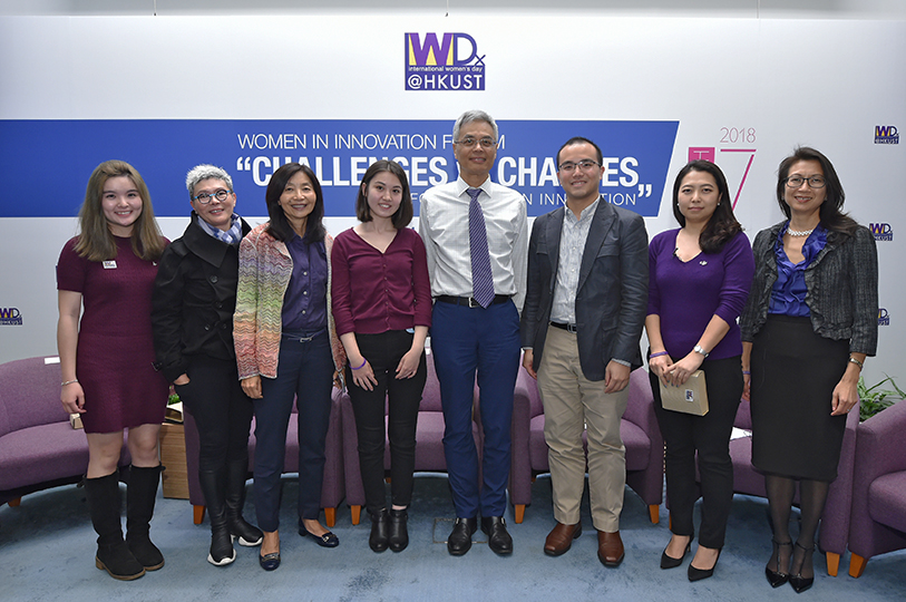 A group photo of all speakers and President Prof Wei Shyy.