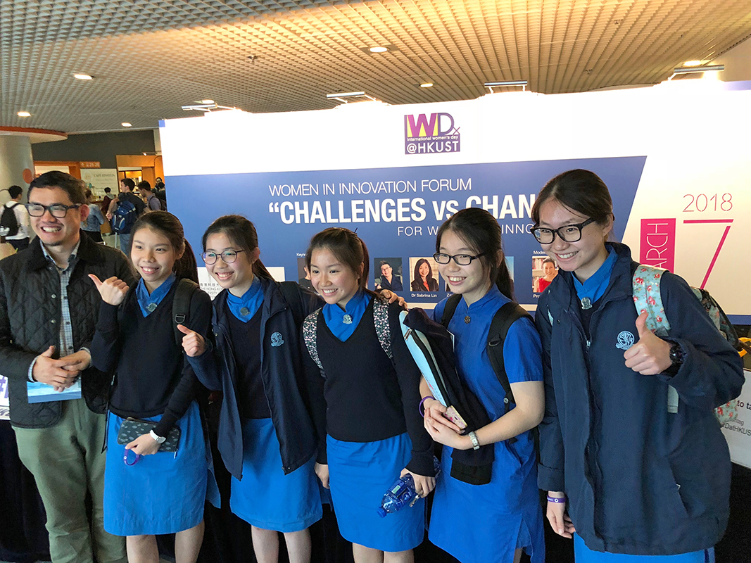 5 secondary students attending the Women in Innovation Forum.